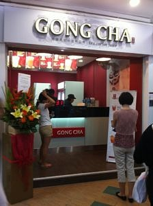 gong cha bubble tea shop
