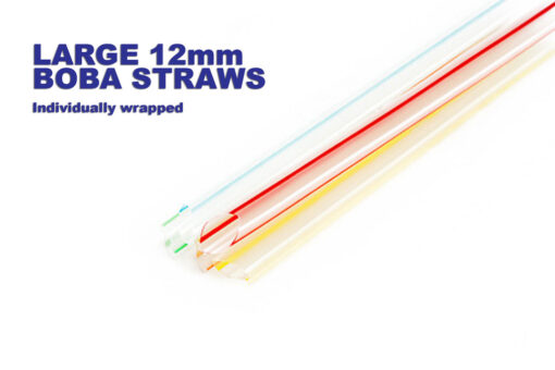 Individually wrapped fat bubble tea straws