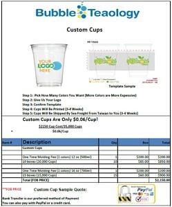 Custom Cups Quote