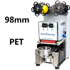 98mm PET bubble tea sealer machine