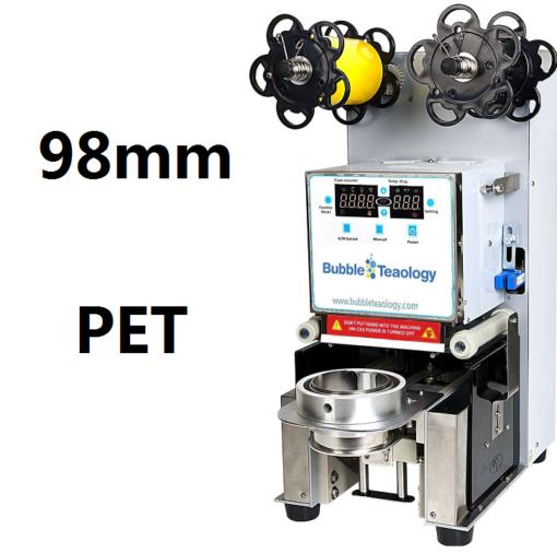 98mm PET bubble tea sealer machine