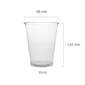 16oz 98mm PET Bubble Tea Cup