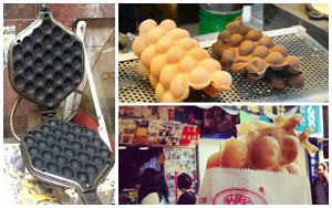 bubble tea waffles