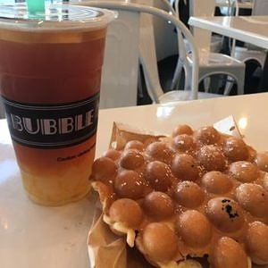 waffles and bubble tea