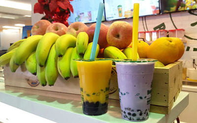 Bubble Tea With Fresh Fruit