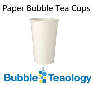 Paper Bubble Tea Cups