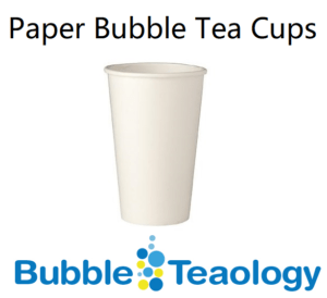 Paper Bubble Tea Cups