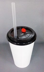 Stopper Lid Fat Jumbo Straw