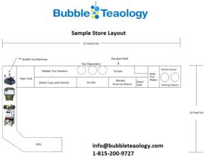 bubble tea store design layout