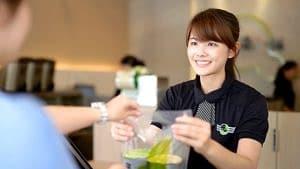 bubble tea shop customer service