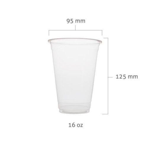 16oz 500ml Clear PP Cups