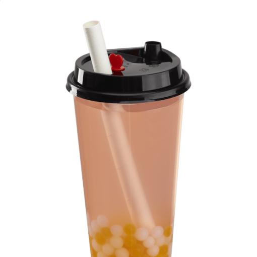 90mm Tall Cup Sipper Lid Straw