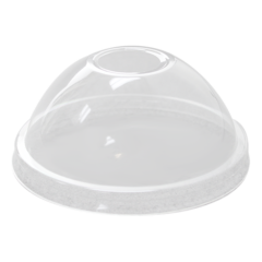 95mm PP Dome Lid with Hole