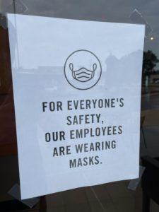 Wear mask bubble tea shop